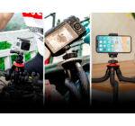 BlitzWolf® BW-BS7 octopus 3 in1 bluetooth flexibilis tripod okostelefonhoz és kamerához 28,5cm