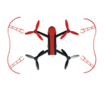 Parrot Bebop2 – EPP Bumpers – repülő keret – piros