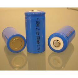 16340 Li-ion akkumulátor  3,7V 1500mAh