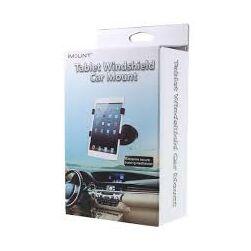 Univerzális, tapadókorongos autós tartó tablet tartó - fehér-szürke