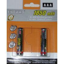 Mini ceruza akku, tölthető elem - 1850 mAh 1.2V - 2db