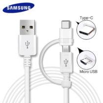 Samsung  2in1 töltőkábel micro USB/ Type-C