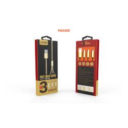 Ldnio 3 in 1 univerzális töltő szett 2micro USB/1lighting LC85