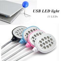 Notebook lámpa  USB-S, 13 LED-es