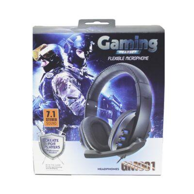 Gamer fejhallgató vezetékes headset
