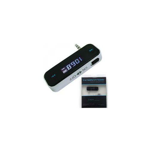 FM transzmitter audio adapter, 3.5mm-es jack aljzattal Ios/Iphone és Android-hoz