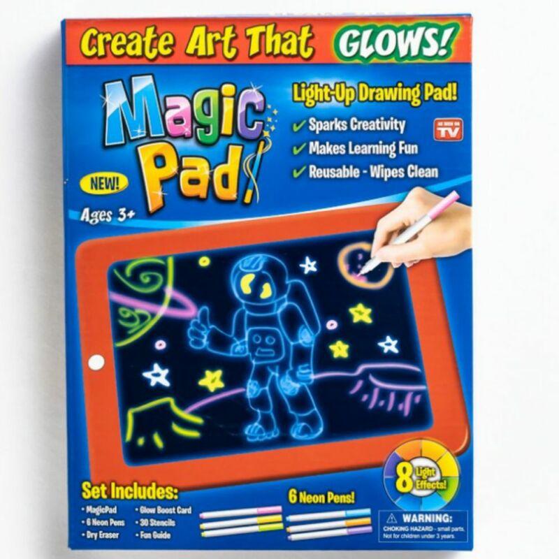 Magic Pad Világítós rajztábla 6db-os filctollal