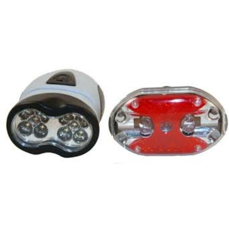 10/9LED-es kerékpáros lámpa szett (első-hátsó)HY-8#208