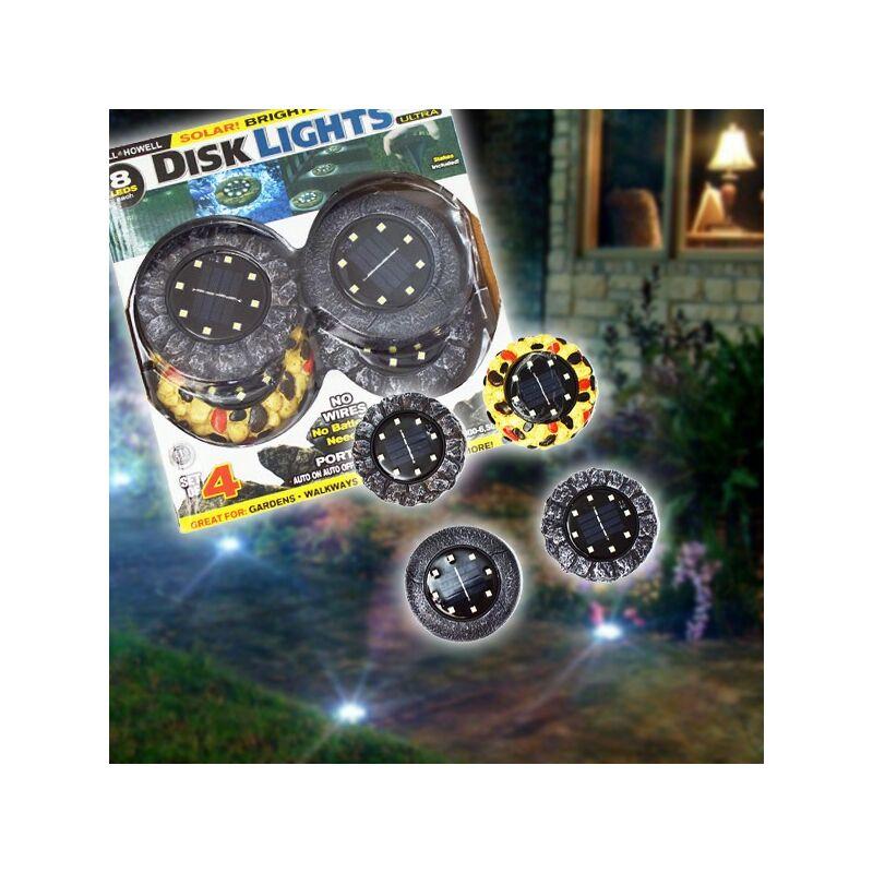 Napelemes éjszakai lámpa (4db) kő mintákkal
