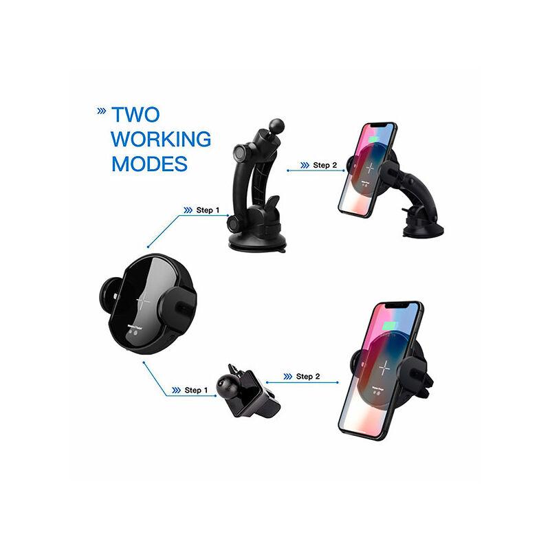 Wireless autós tartó és töltő 2in1