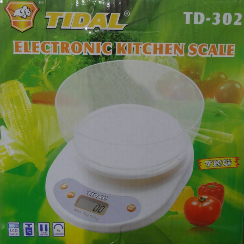 Digitális konyhai mérleg keverőtállal 7 kg-ig - Tidal TD-302