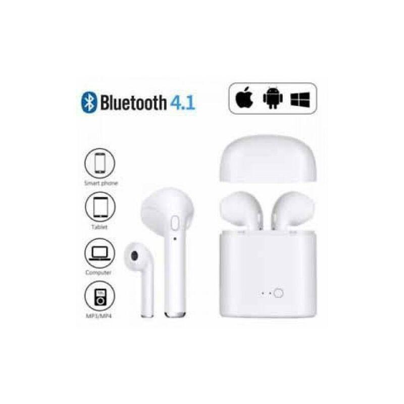 i7S tws páros bluetooth headset, töltő tokkal