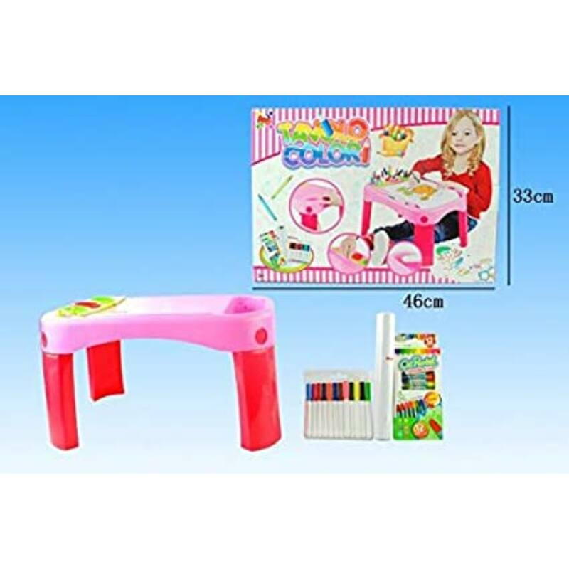 Gyerek rajzasztal + ajándék rajz szett - Apel Plastic 45x32cm