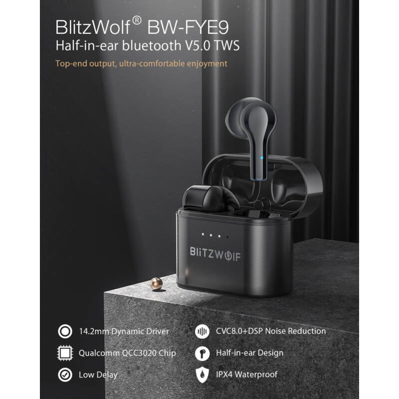 BlitzWolf® bluetooth headset earphones BW-FYE9