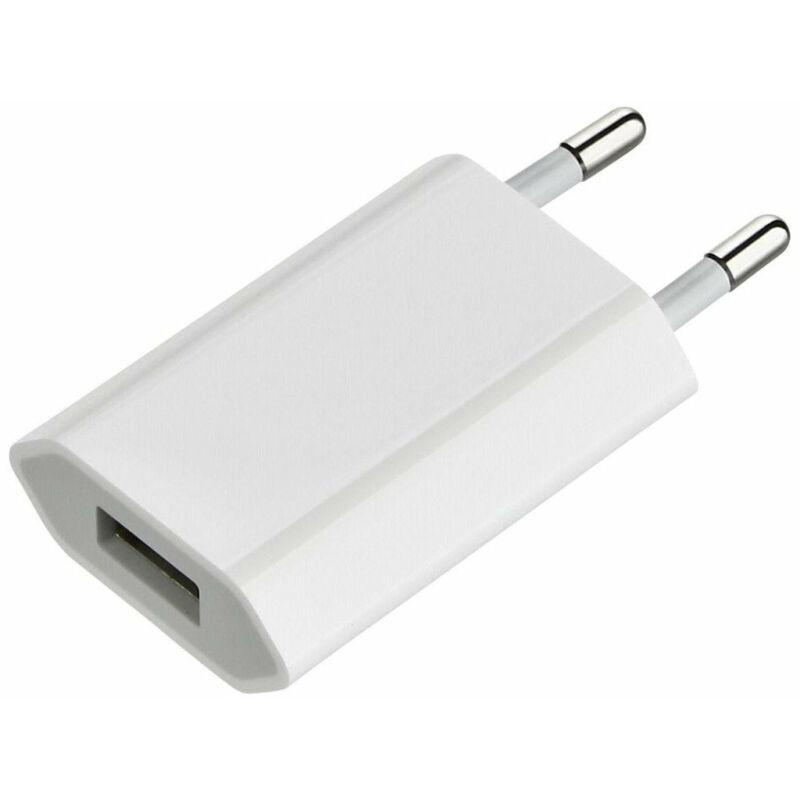 Hálózati USB-s töltőfej 1A - fehér (IPhone) Utángyártott