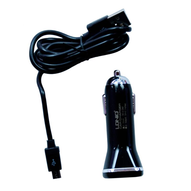 Ldnio DL-DC219 szivargyújtós 2USB töltő fekete micro USB