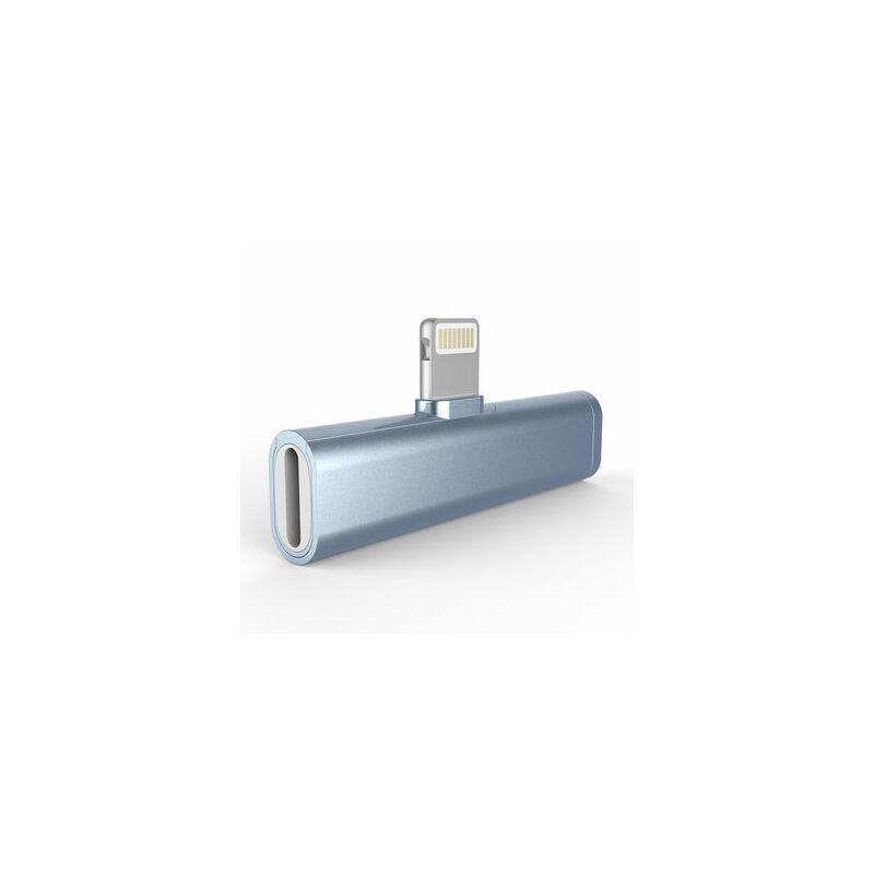 2in1 lightning adapter 3.5mm töltő / fejhallgató adapter átalakító