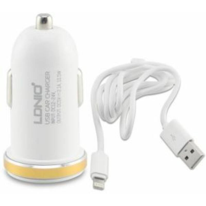 Ldnio DL-C22 szivargyújtós 2USB töltő + lightning kábel (iOs)
