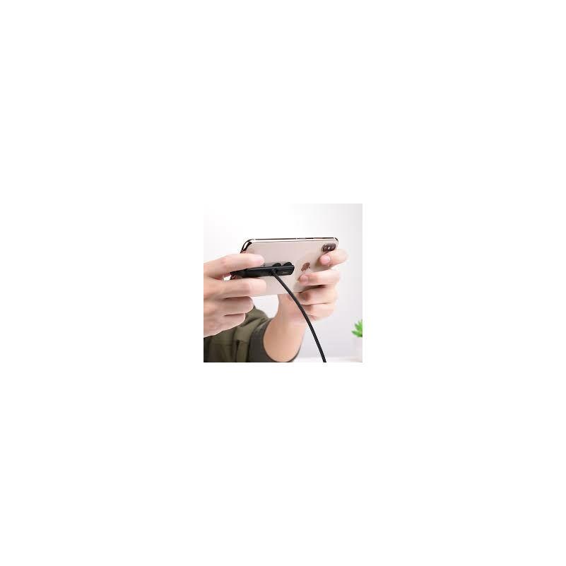 Hoco U51 tapadókorongos Lightning adat-és töltőkábel 1,2m (fekete)