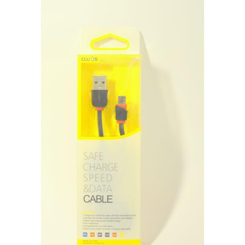 Micro USB-s gyors töltő-és adatkábel Android készülékhez 1m - fekete