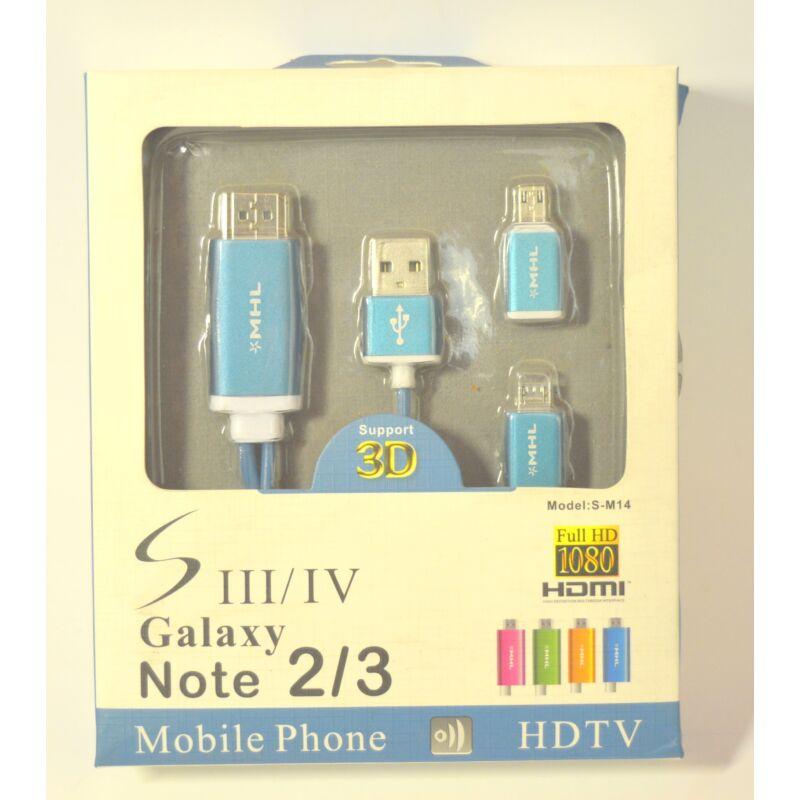 MHL HDMI csatlakozó  - kék