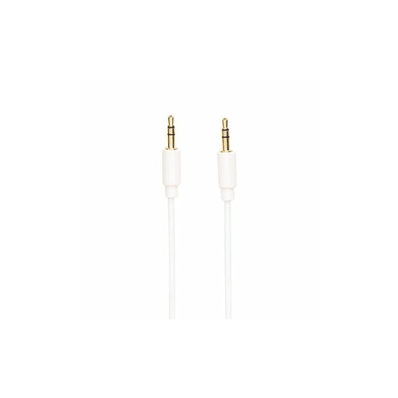 3,5 mm jack kábel -  2 pólusú aux- 1m(fehér)