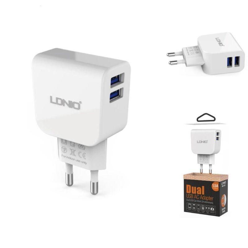 LDNIO 2 portos töltőv 2.4A microUSB töltőkábel