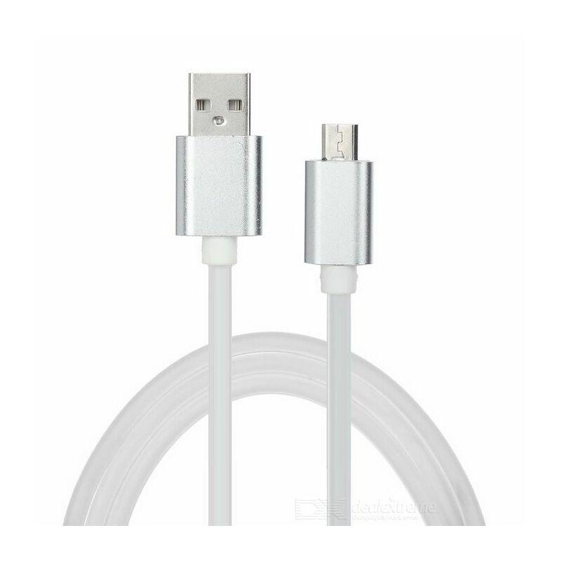 Micro USB-s erősített gyorstöltő-és adatkábel Android készülékhez 1m - Ezüst