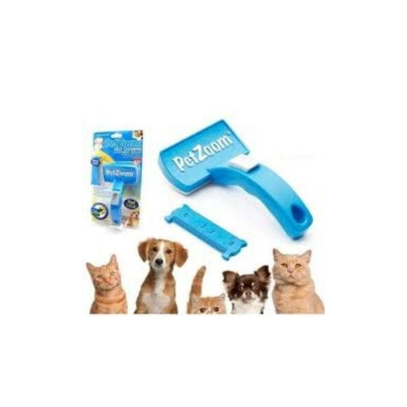 Pet Zoom állítható kisállat szőrkefe kutyákhozés macskákhoz