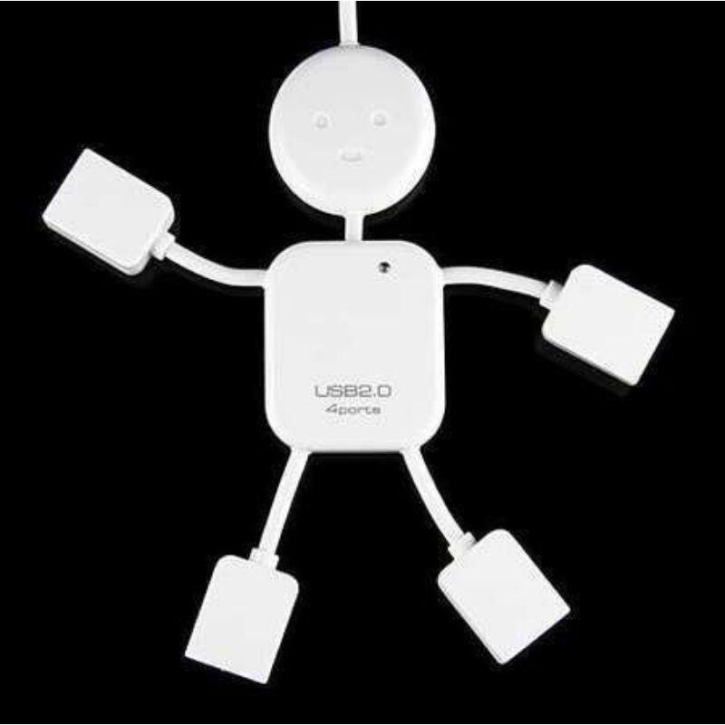 USB elosztó 4 hub , vidám emberke formájú