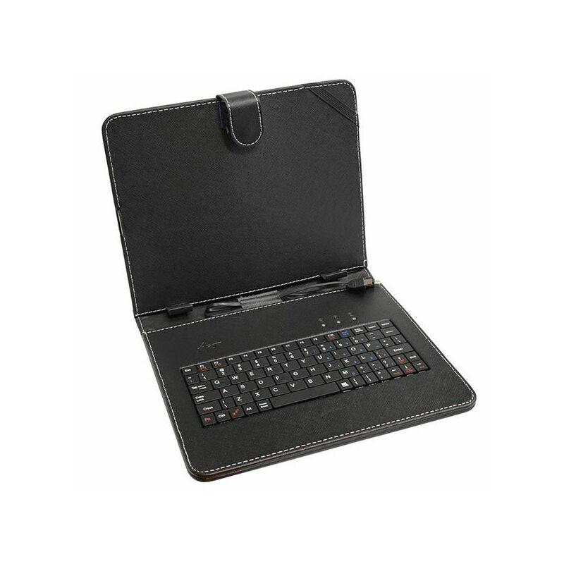 Tablet tartó tok billentyűzettel 7″ fekete