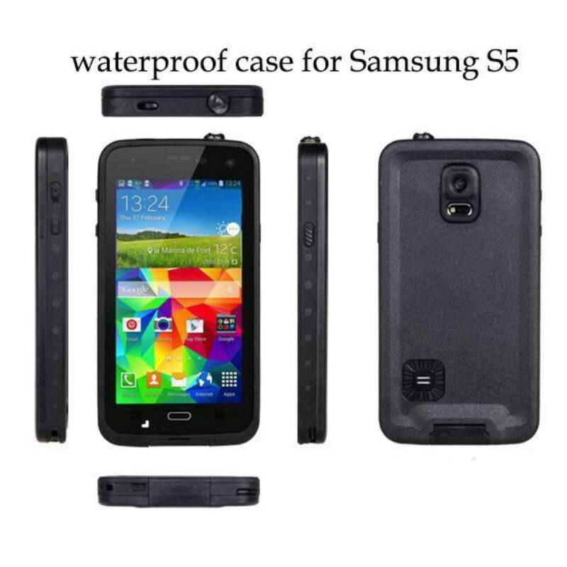 Vízhatlan/vízálló tok Galaxy S5 fekete