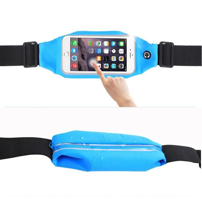 Futótáska övtáska mobilokhoz, headset-kimenettel