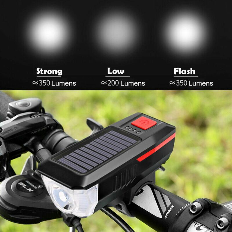 Napelemes kerékpár lámpa, csengő