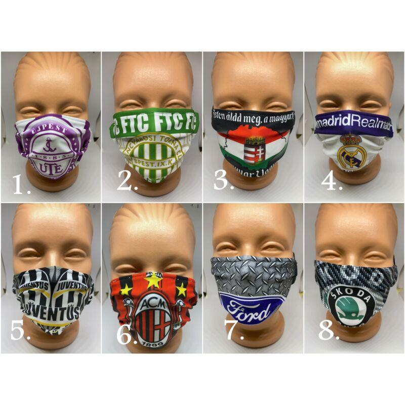 Rajongói- és  design maszkok - futball, autó, motorsport