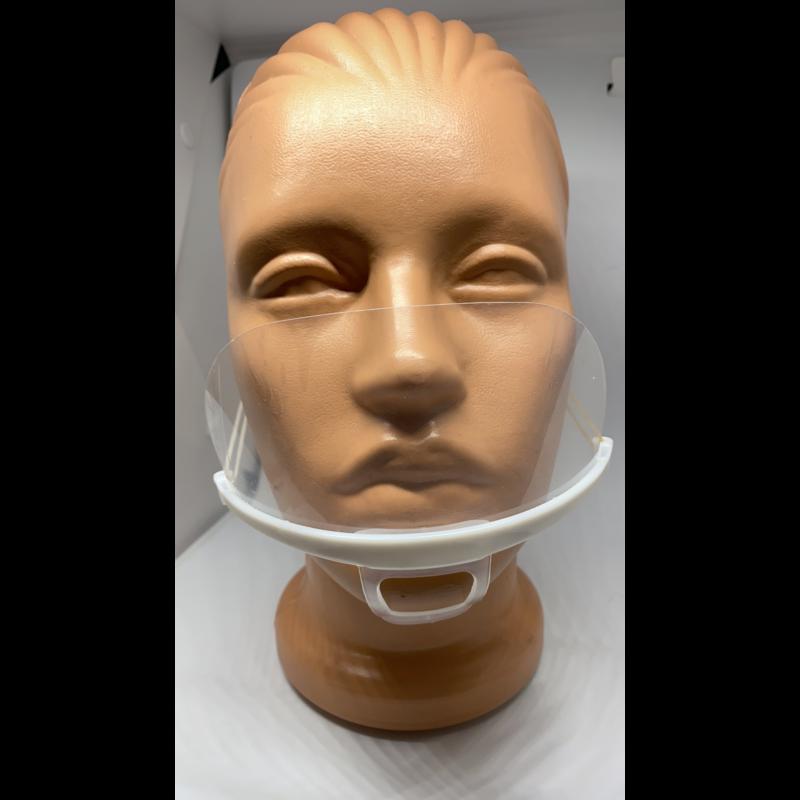 Átlátszó maszk siketek és nagyothallók illetve kozmetikusok számára