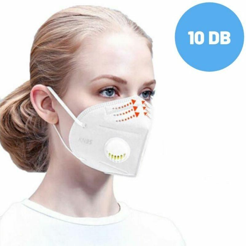 Lélegzőszelepes higiéniai arcmaszk KN95 (10 db)