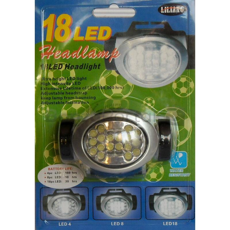 18 LED-es fejlámpa