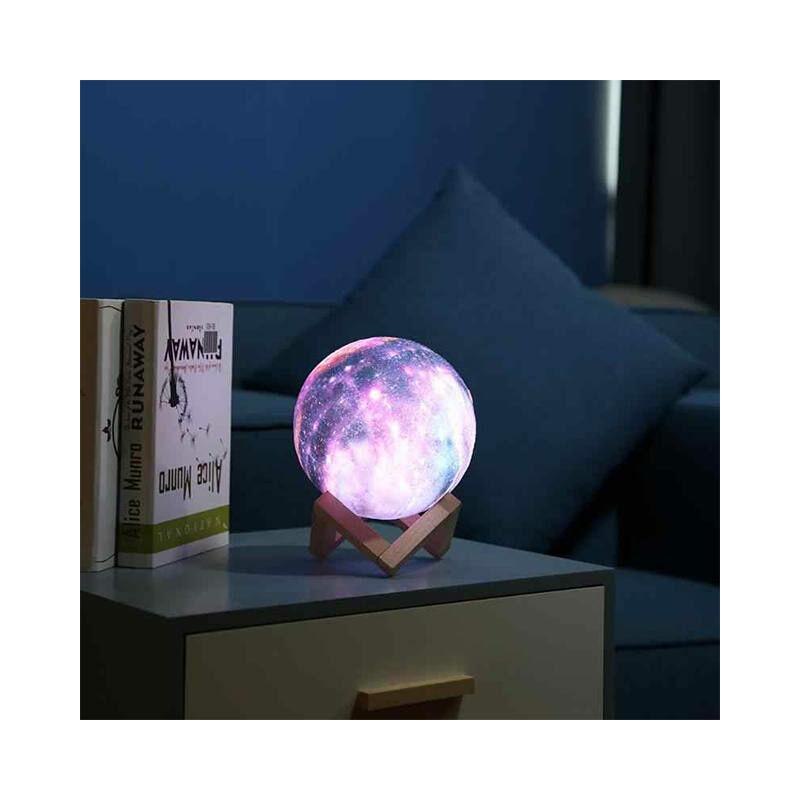 3D MOON HOLD lámpa + bluetooth hangszóró