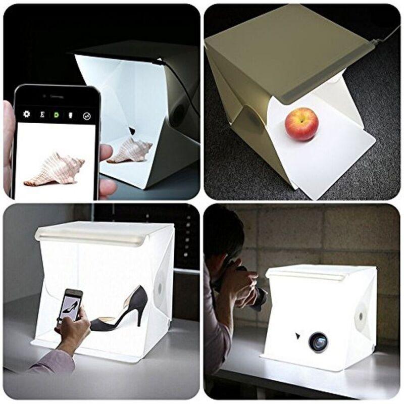 Mini fotó stúdió LED-es világítással