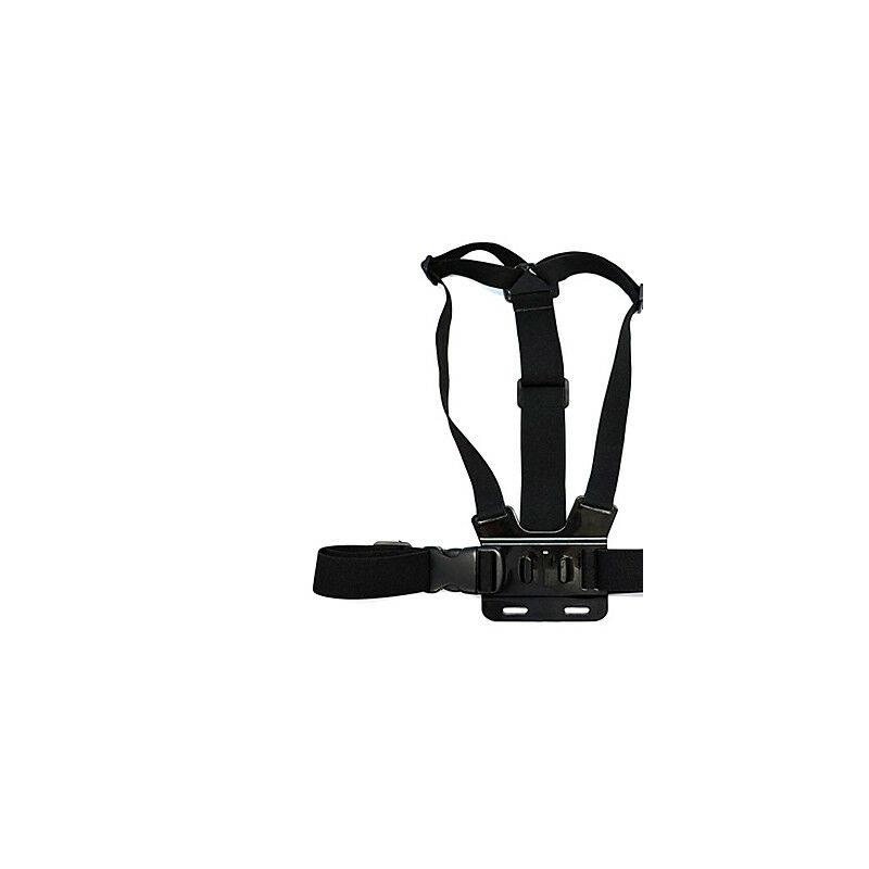 Akciókamera mellpánt, fekete (GoPro-s)