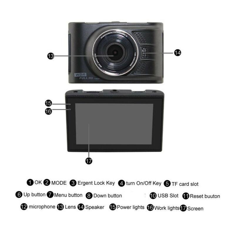 Autós fedélzeti kamera WDR Full HD 1080p Podofo Novatek