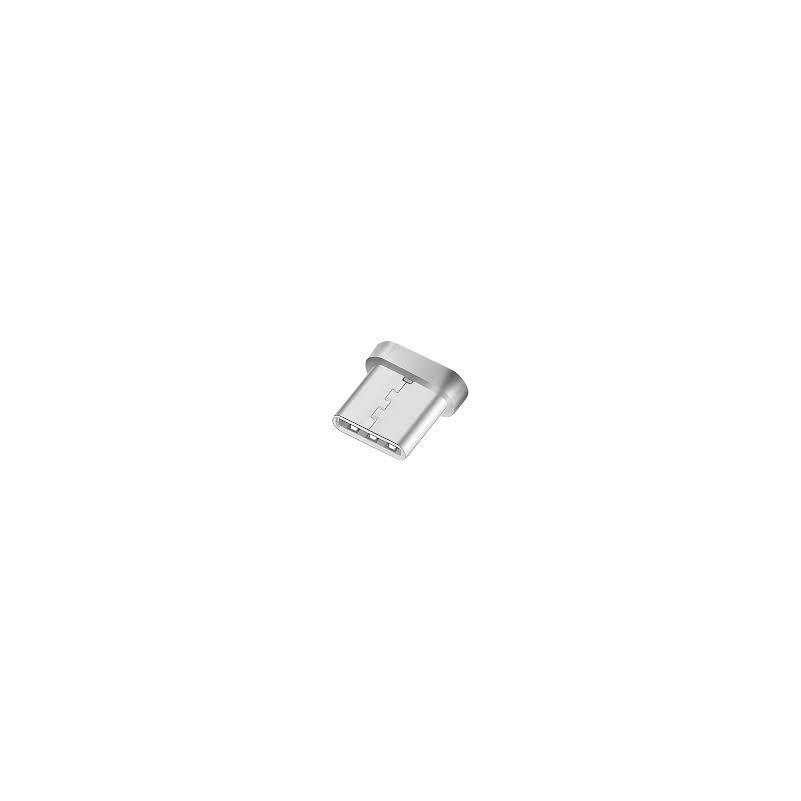 Mágneses Type-C- USB-s töltőkábel - 1m ezüst